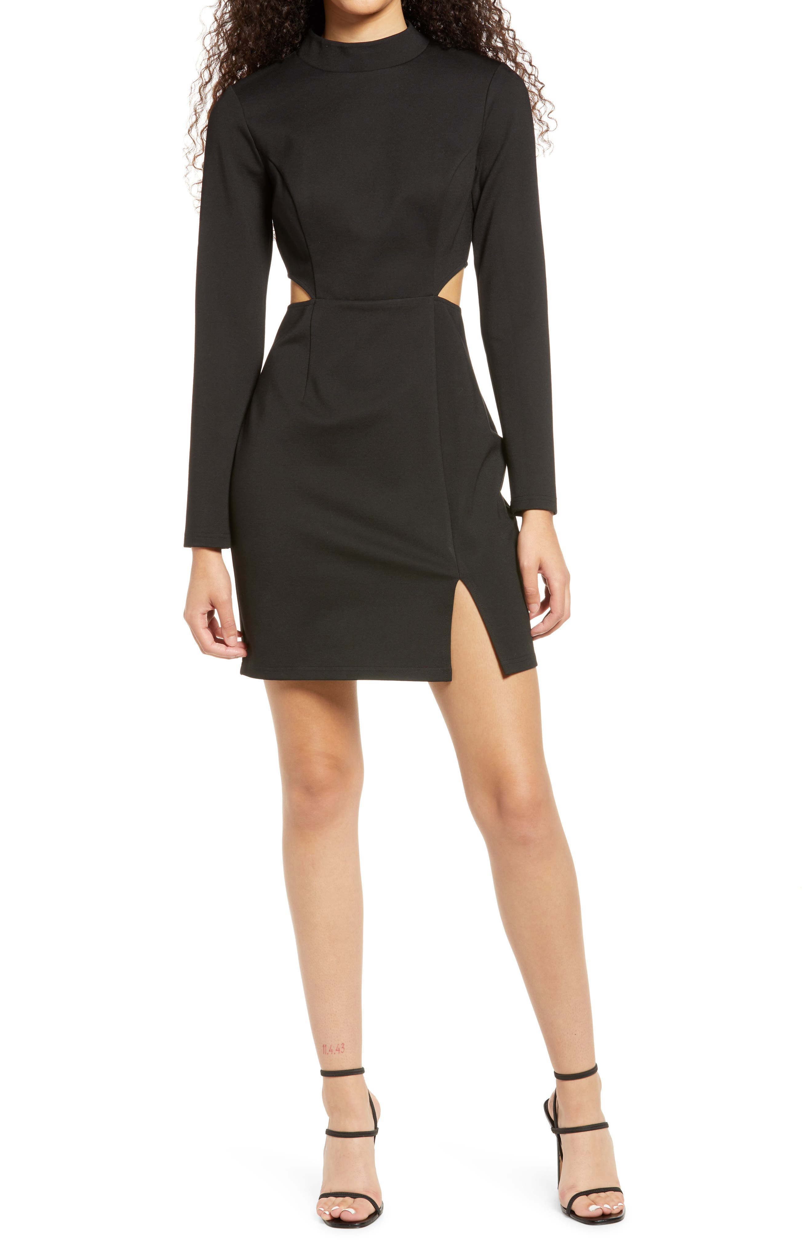 Awestruck Long Sleeve Cutout Dress
