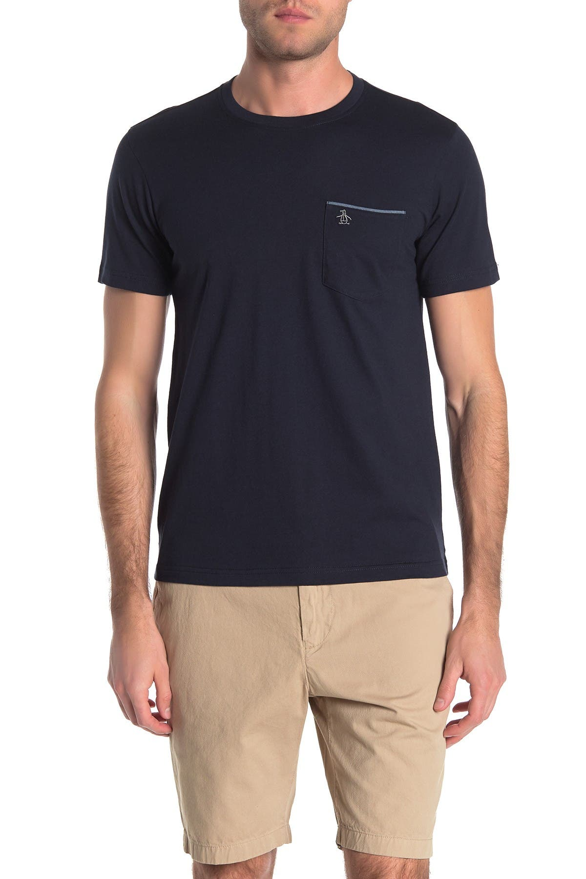 Image of Original Penguin Chambray Trim Pocket T-Shirt