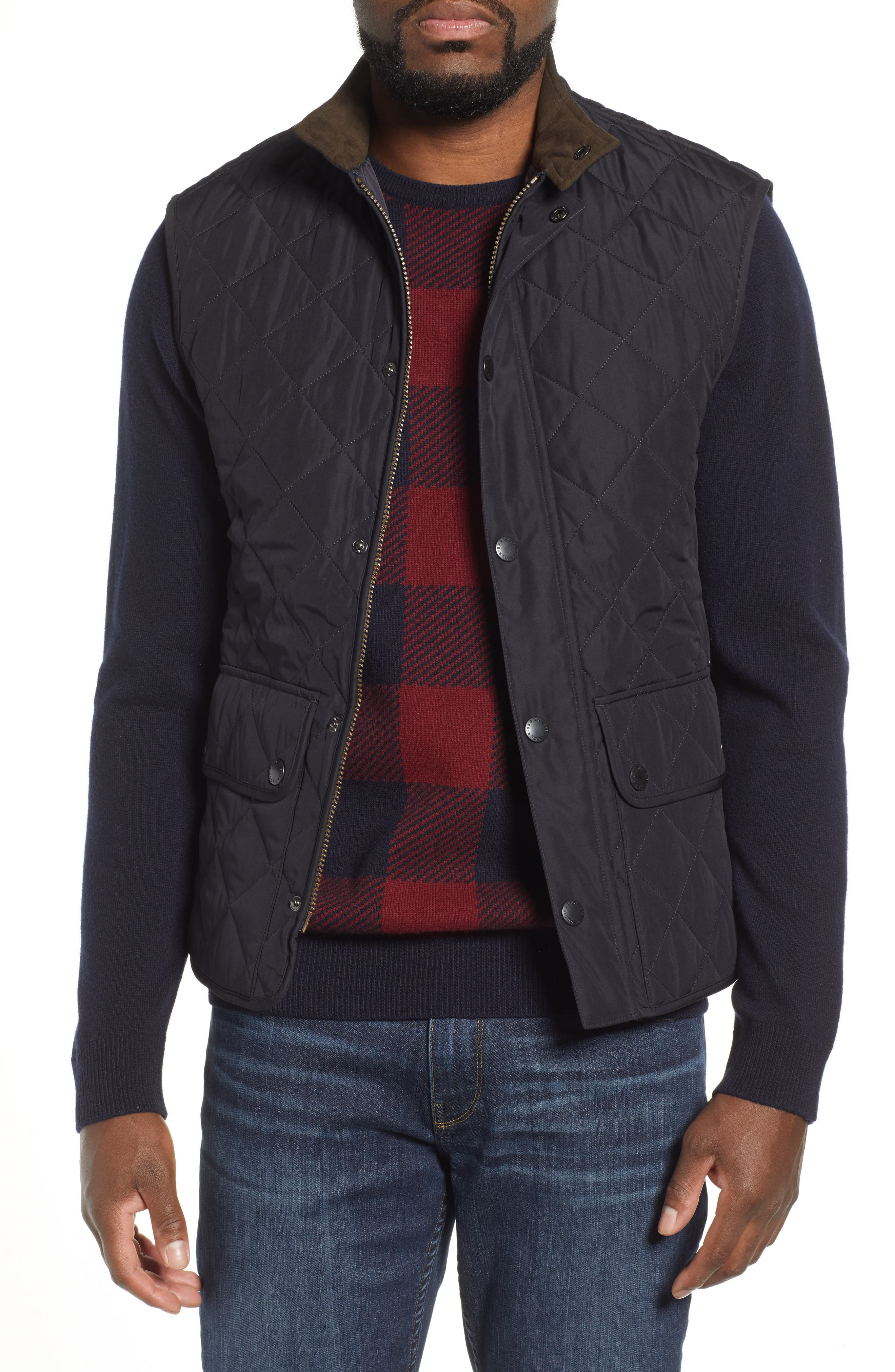 Barbour Lowerdale Quilted Vest, Blue