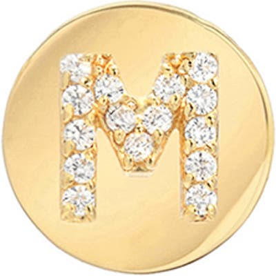 Mini Mini Jewels Framed Diamond Initial Earring
