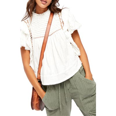 Free People Le Femme Top, White