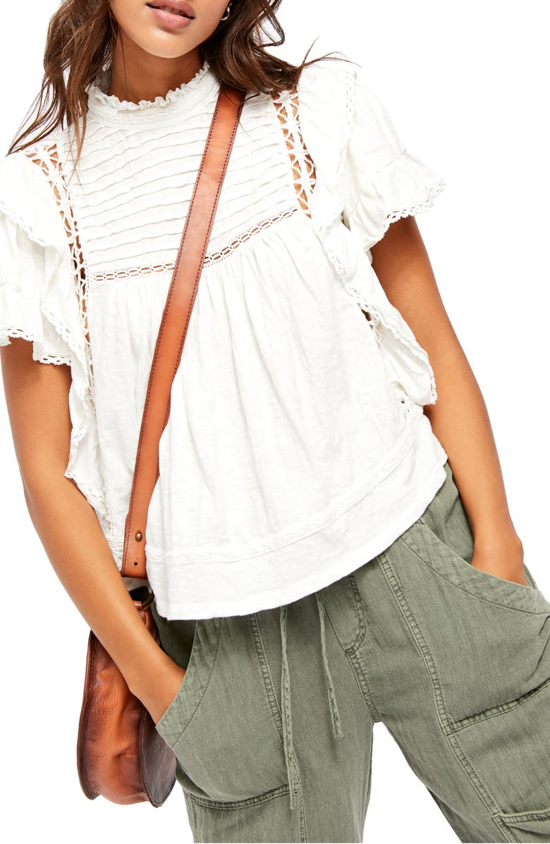 FREE PEOPLE Le Femme Top, Main, color, IVORY