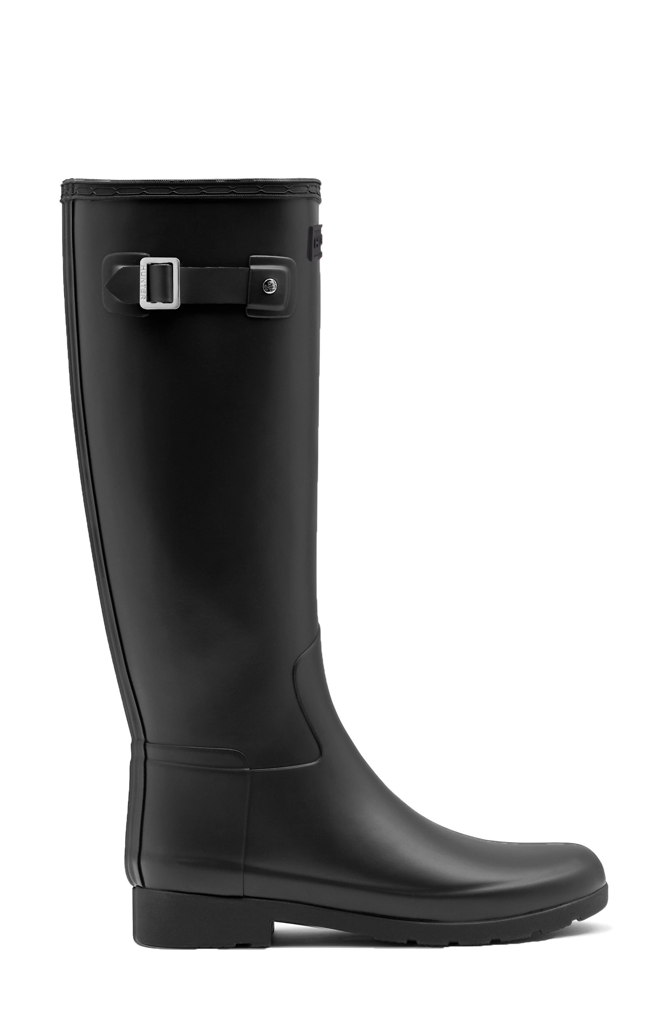 ,                             Original Refined Waterproof Rain Boot,                             Alternate thumbnail 3, color,                             BLACK