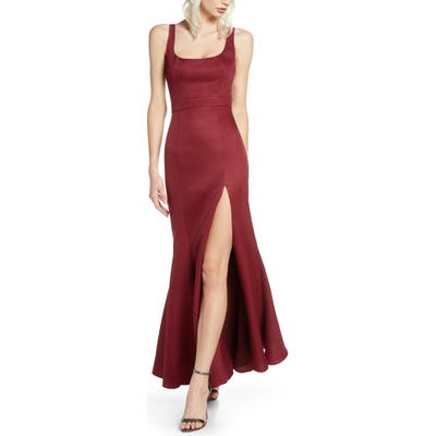 Fame And Partners Selena Mermaid Gown, Red