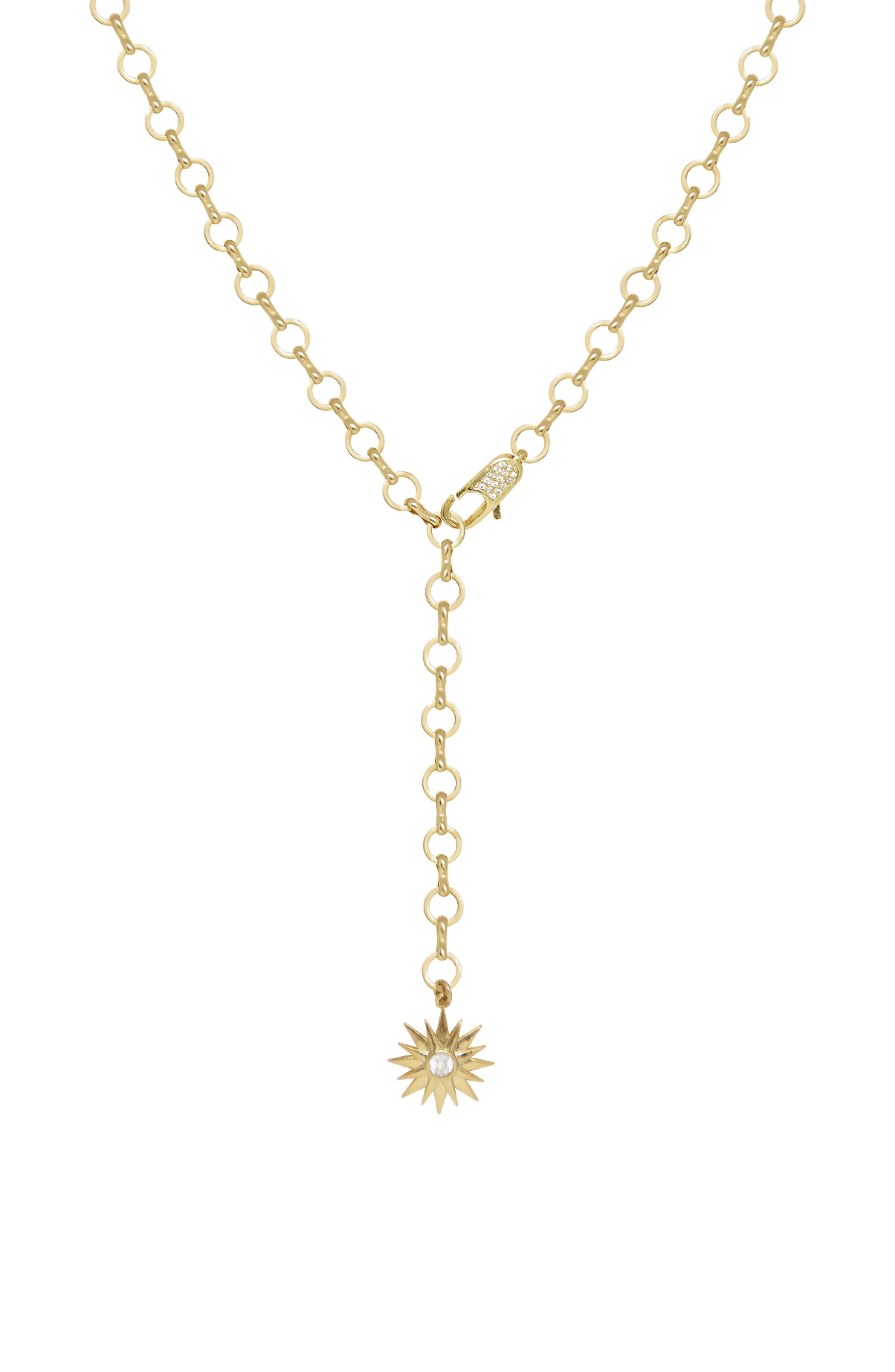 Starburst Lariat Necklace