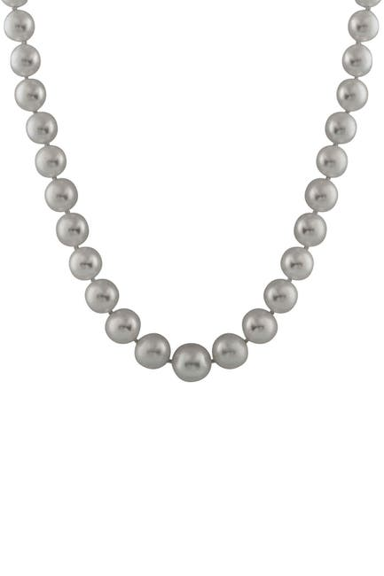 Image of Splendid Pearls 6-11mm Gray Graduated Pearl Necklace