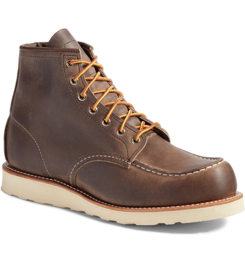 RED WING 6 Inch Moc Toe Boot, Main, color, CONCRETE ROUGH AND TOUGH LEATH