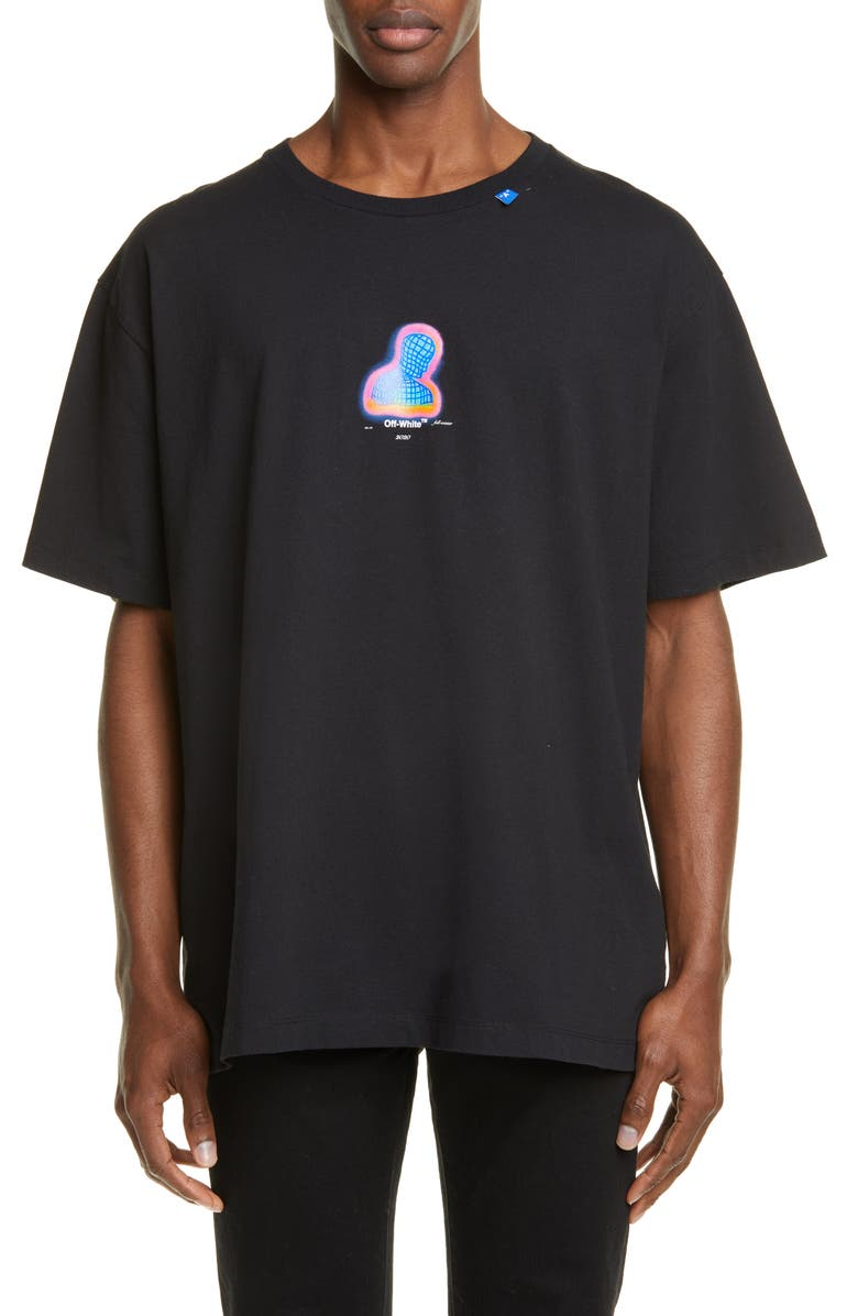 OFF-WHITE Thermo Oversize Graphic T-Shirt, Main, color, 001