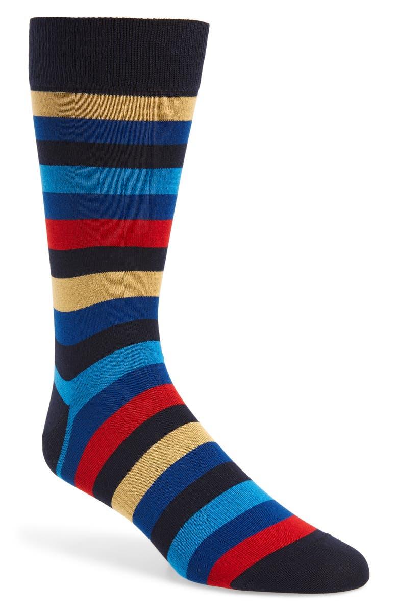 BUGATCHI Mercerized Cotton Blend Socks, Main, color, MIDNIGHT