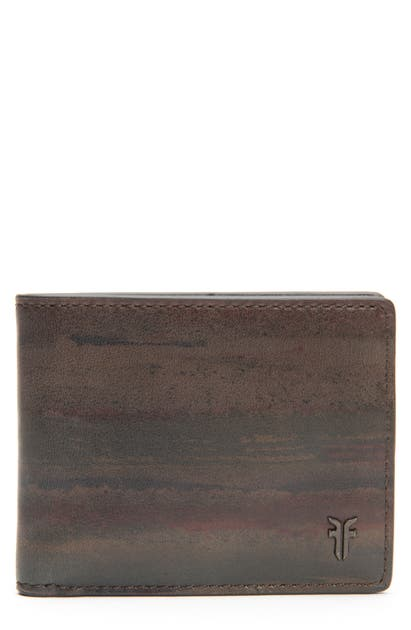 Frye Austin Id Print Slim Leather Billfold In Dark Multi