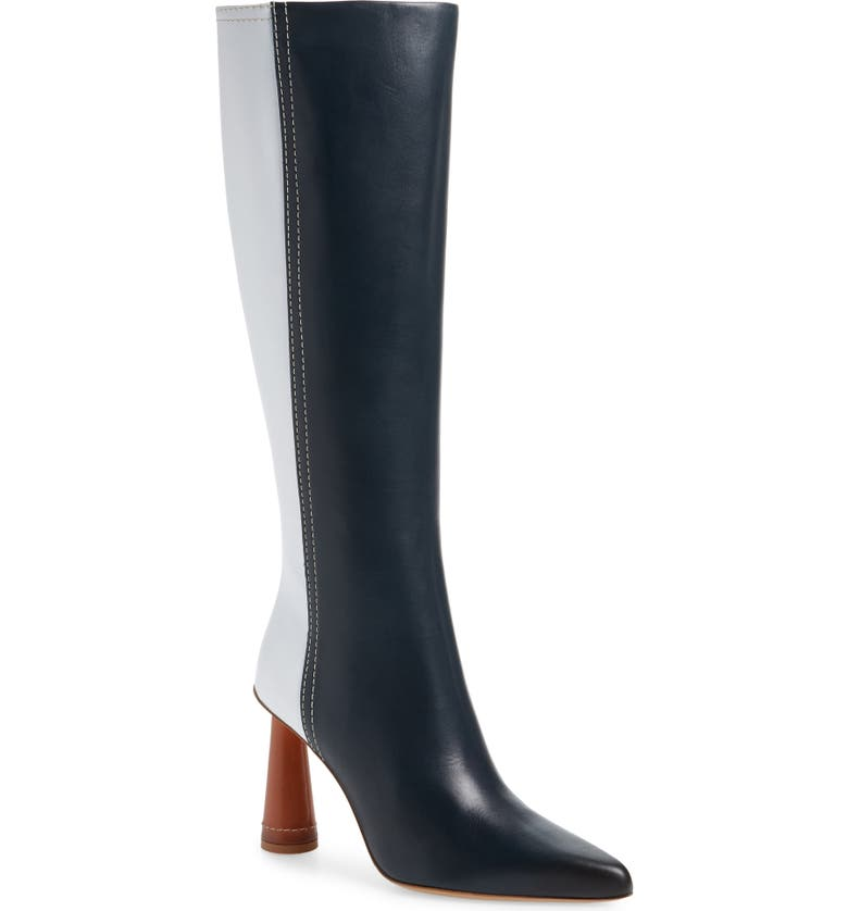 JACQUEMUS Les Bottes Leon Hautes Knee High Boot, Main, color, GREEN/ WHITE/ CAMEL
