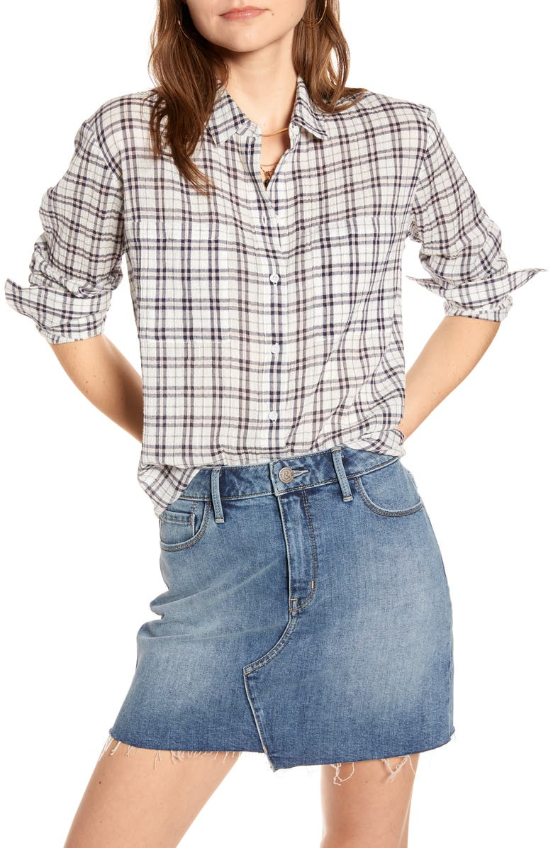 TREASURE & BOND Plaid Shirt, Main, color, 410