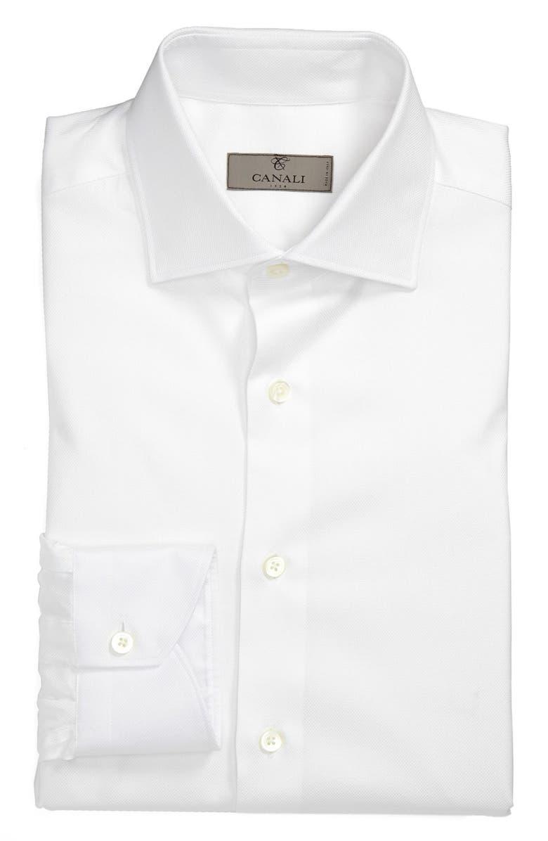 CANALI Regular Fit Dress Shirt, Main, color, 100