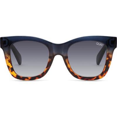 Quay Australia X Chrissy Teigen After Hours 50Mm Square Sunglasses - Navy Tort/ Smoke