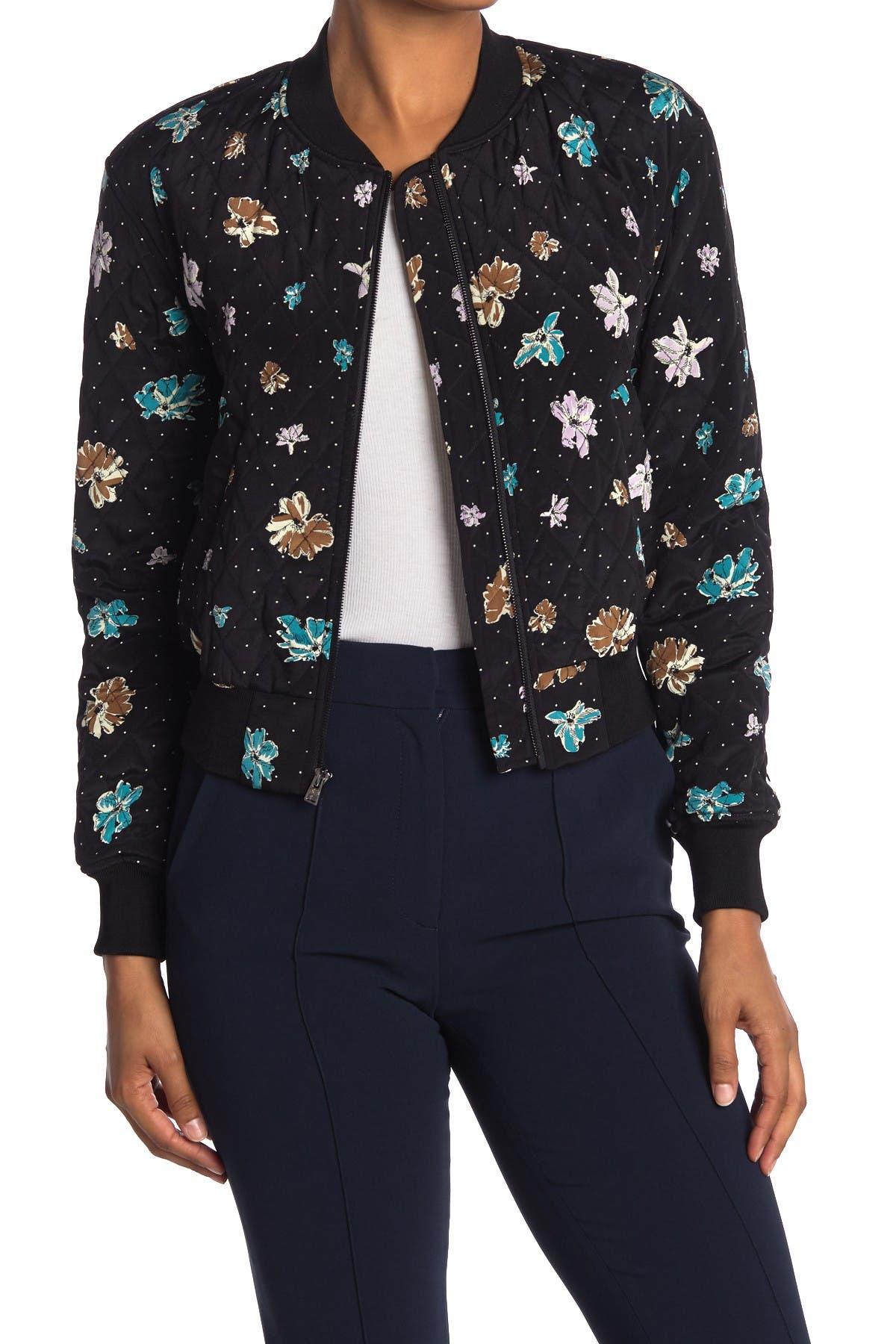 Image of Diane von Furstenberg Caitlyn Printed Silk Bomber Jacket
