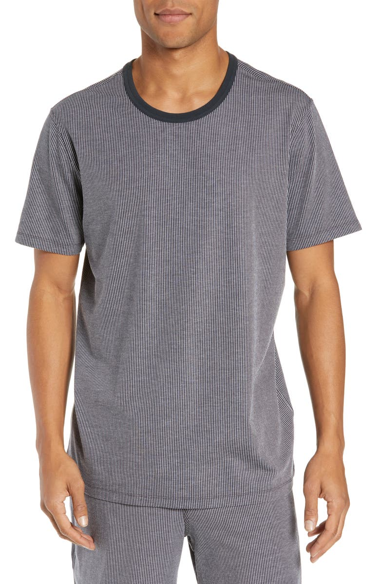 DANIEL BUCHLER Stretch Cotton & Modal Crewneck T-Shirt, Main, color, CHARCOAL