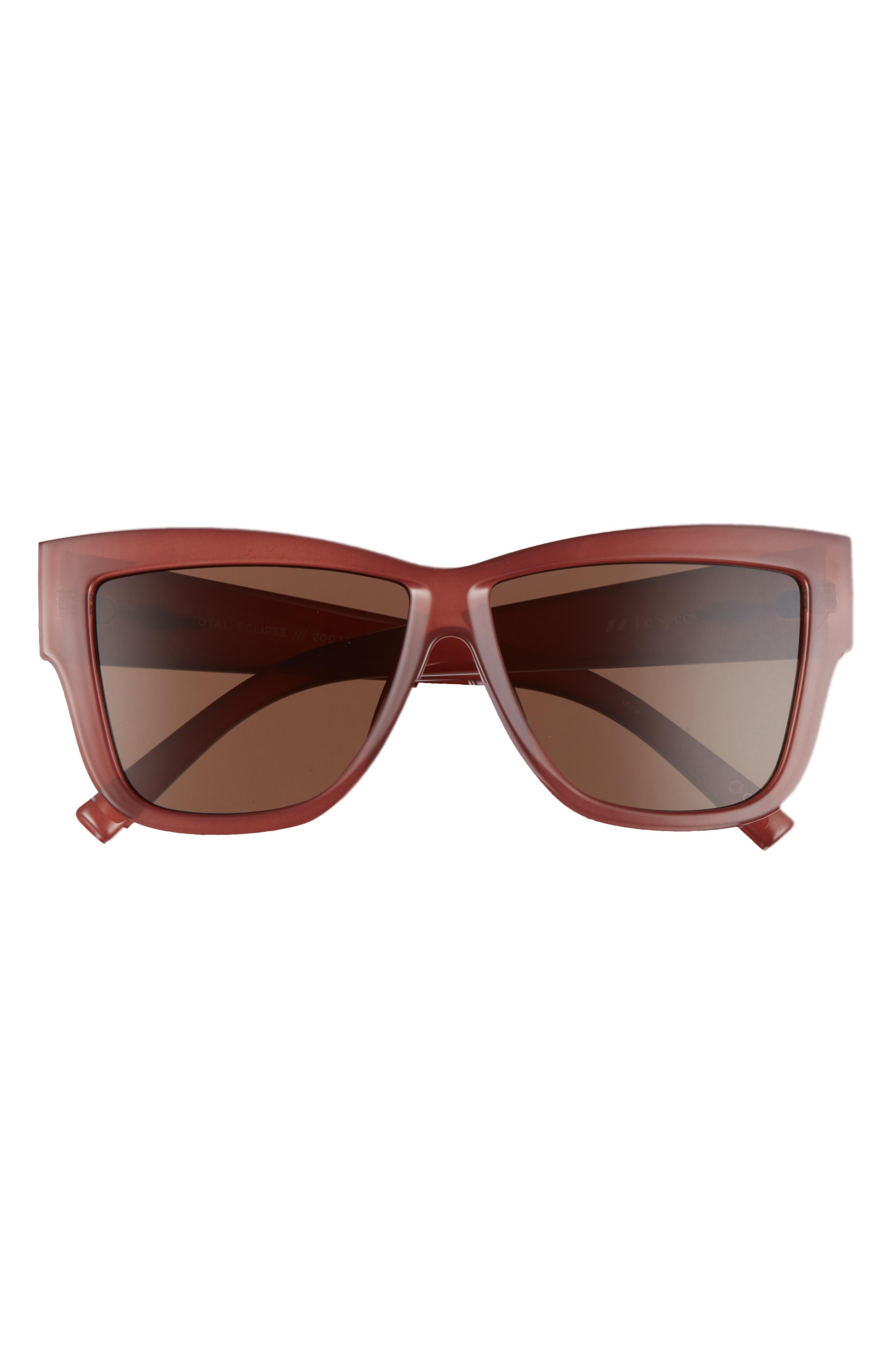 Total Eclipse 57mm Square Sunglasses