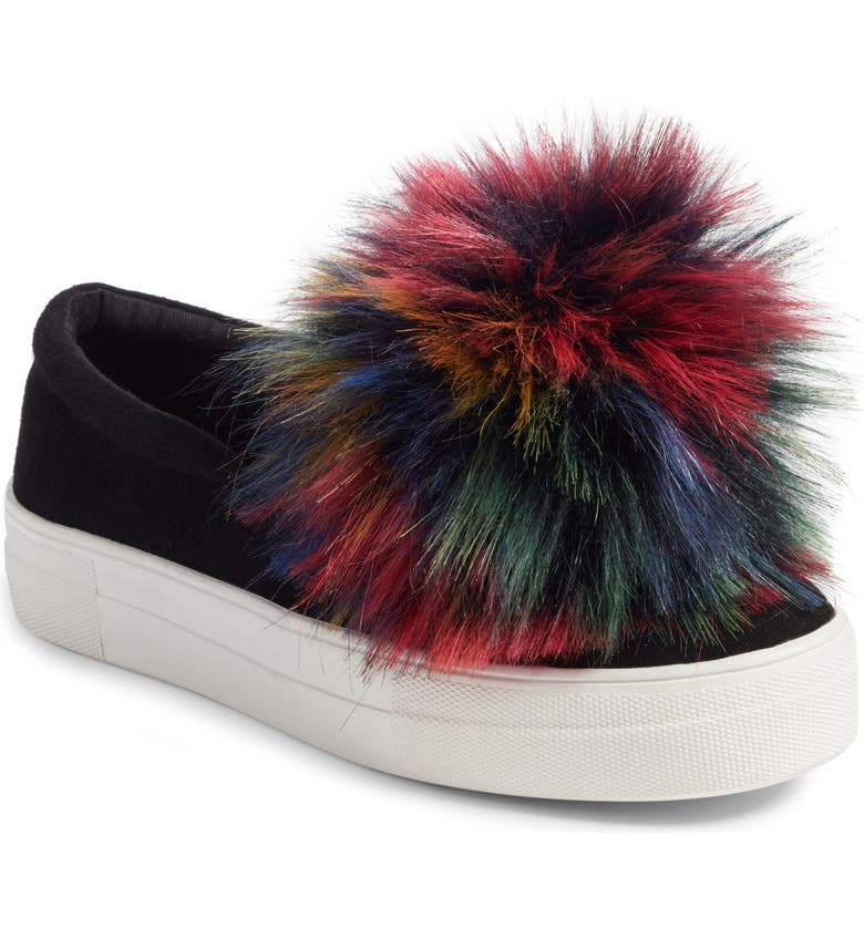 404268d8671 Great Faux Fur Pom Platform Sneaker