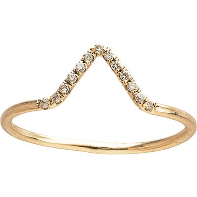 Wwake Micropave Triangle Ring