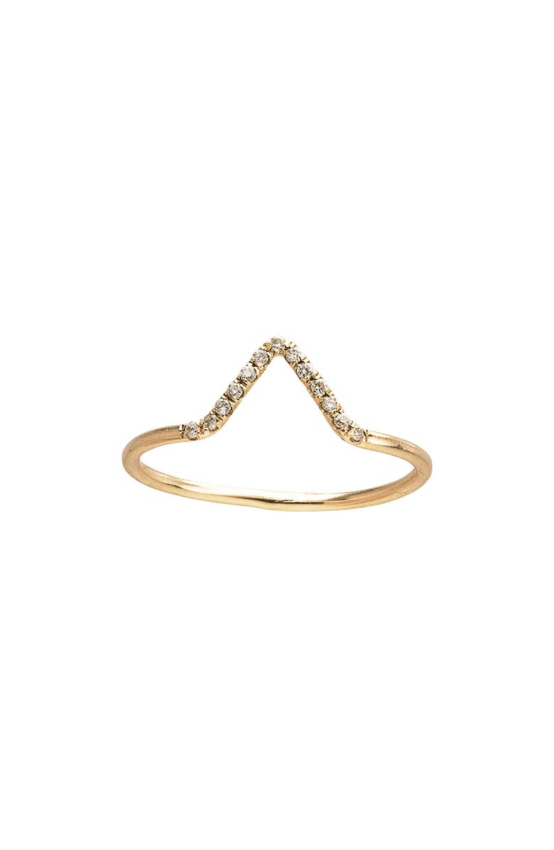 WWAKE Micropavé Triangle Ring, Main, color, YELLOW GOLD/ DIAMOND