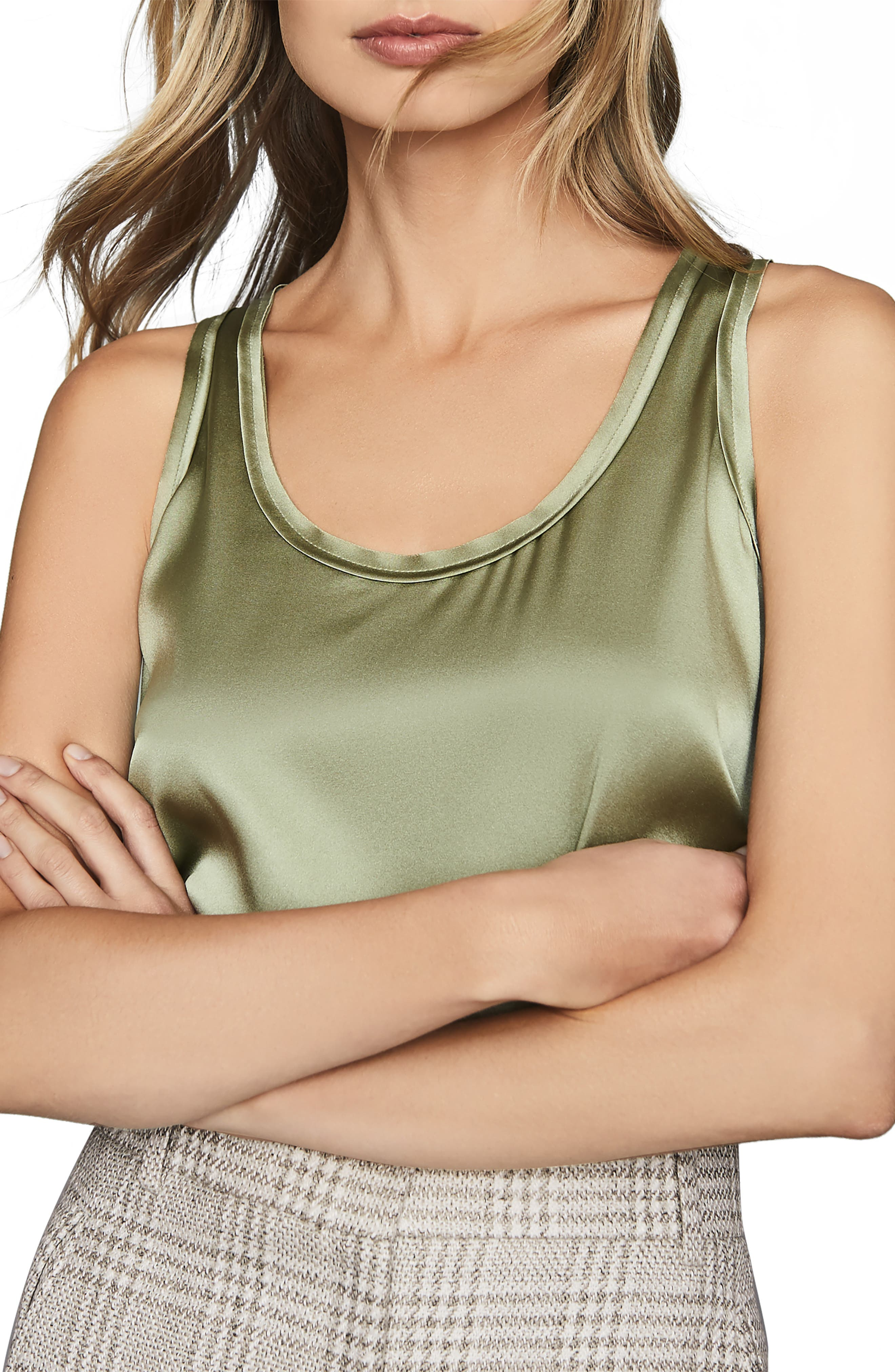 Image of REISS Remey Silk Front Tank