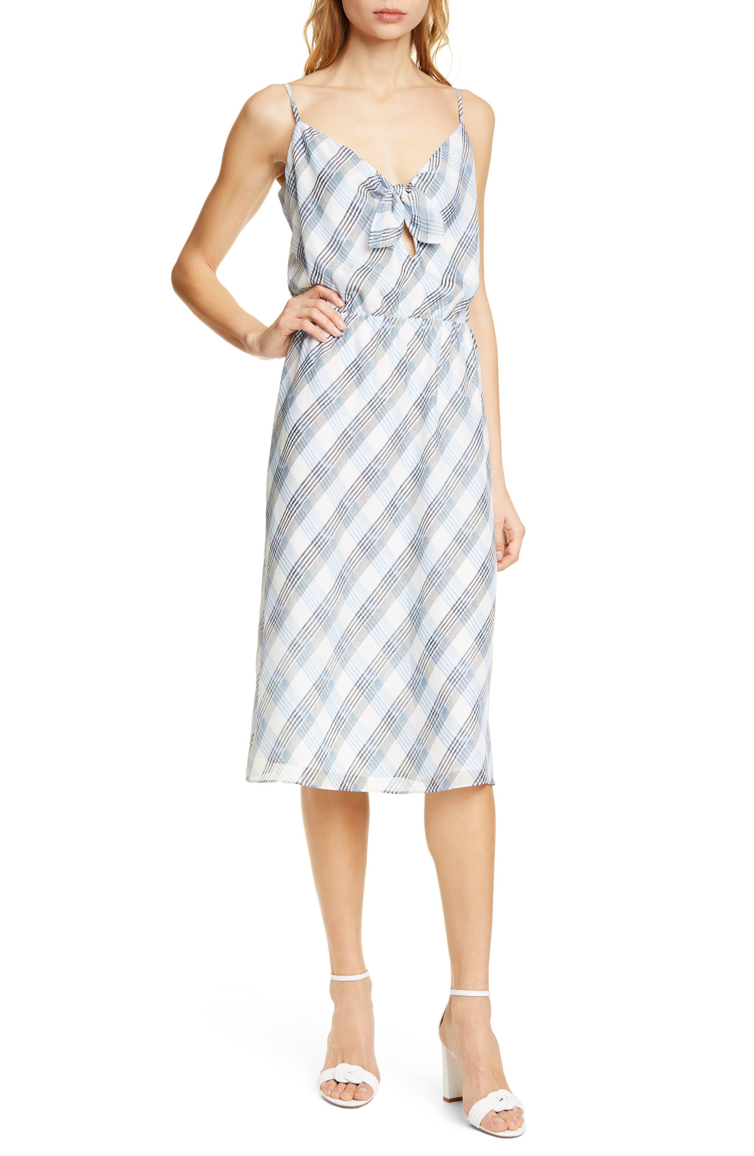 Joie Abiah Front Tie Silk Dress, Ivory