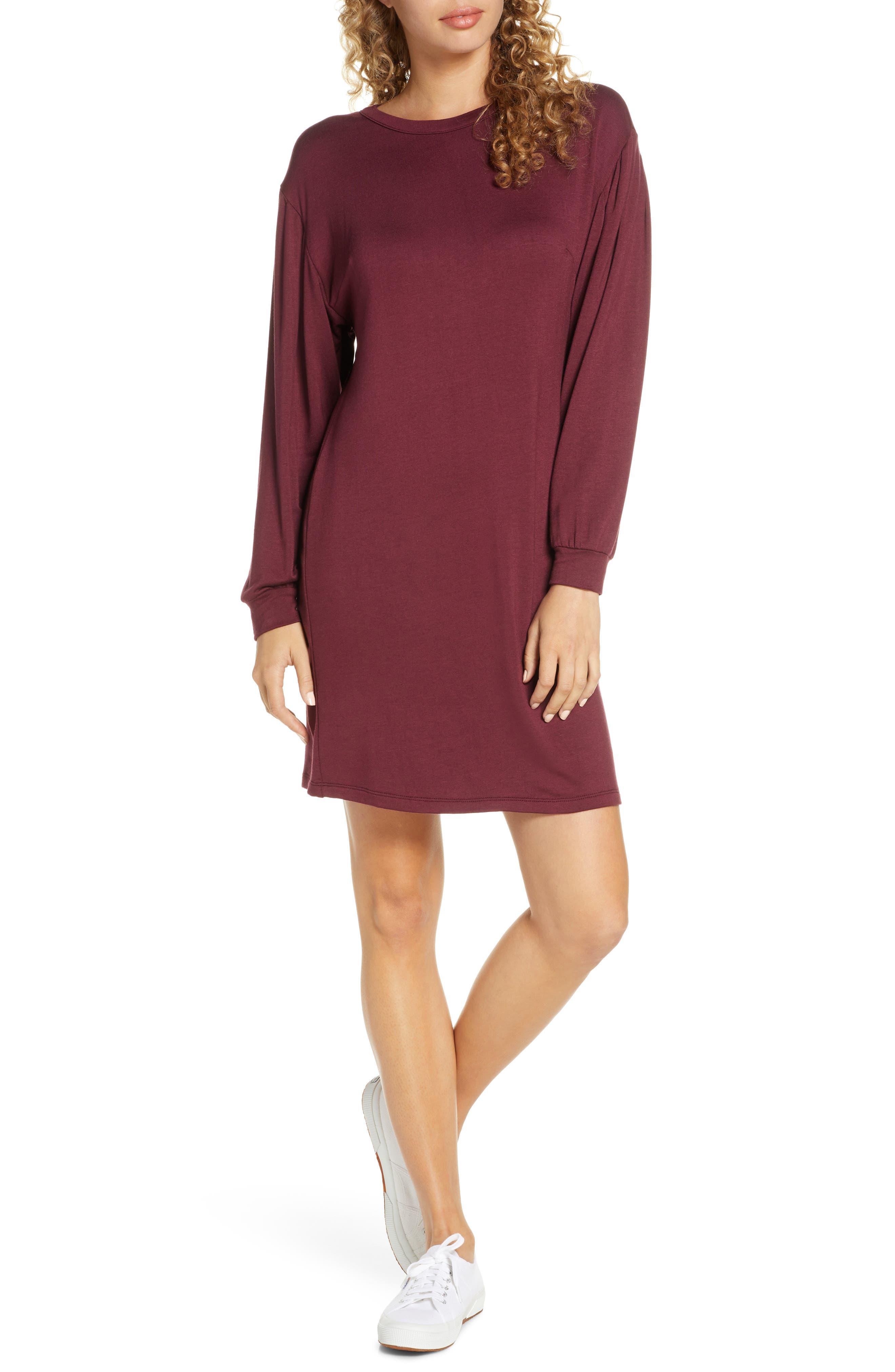 Image of Fraiche By J Crew Neck Sweatshirt Dress