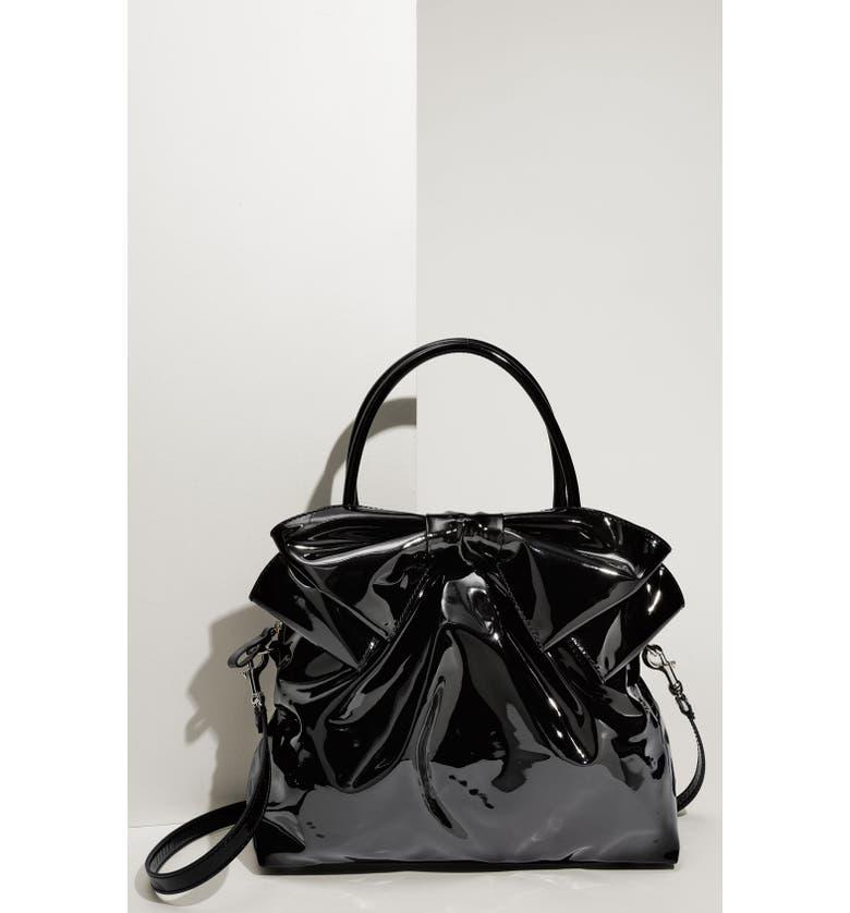 VALENTINO 'Lacca Bow' Dome Handbag, Main, color, 001
