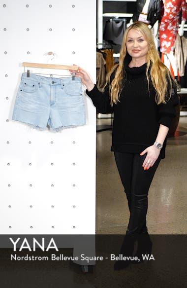 Hailey Boyfriend Cutoff Denim Shorts, sales video thumbnail