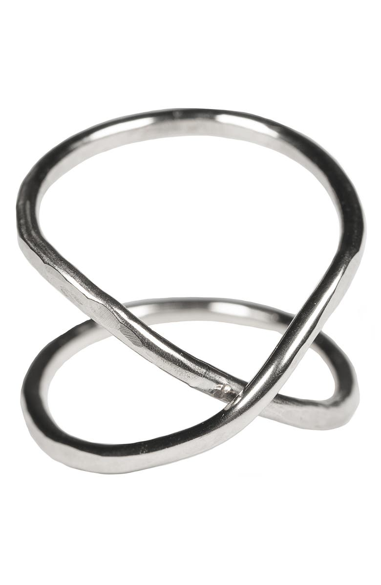 NASHELLE Hourglass Ring, Main, color, SILVER