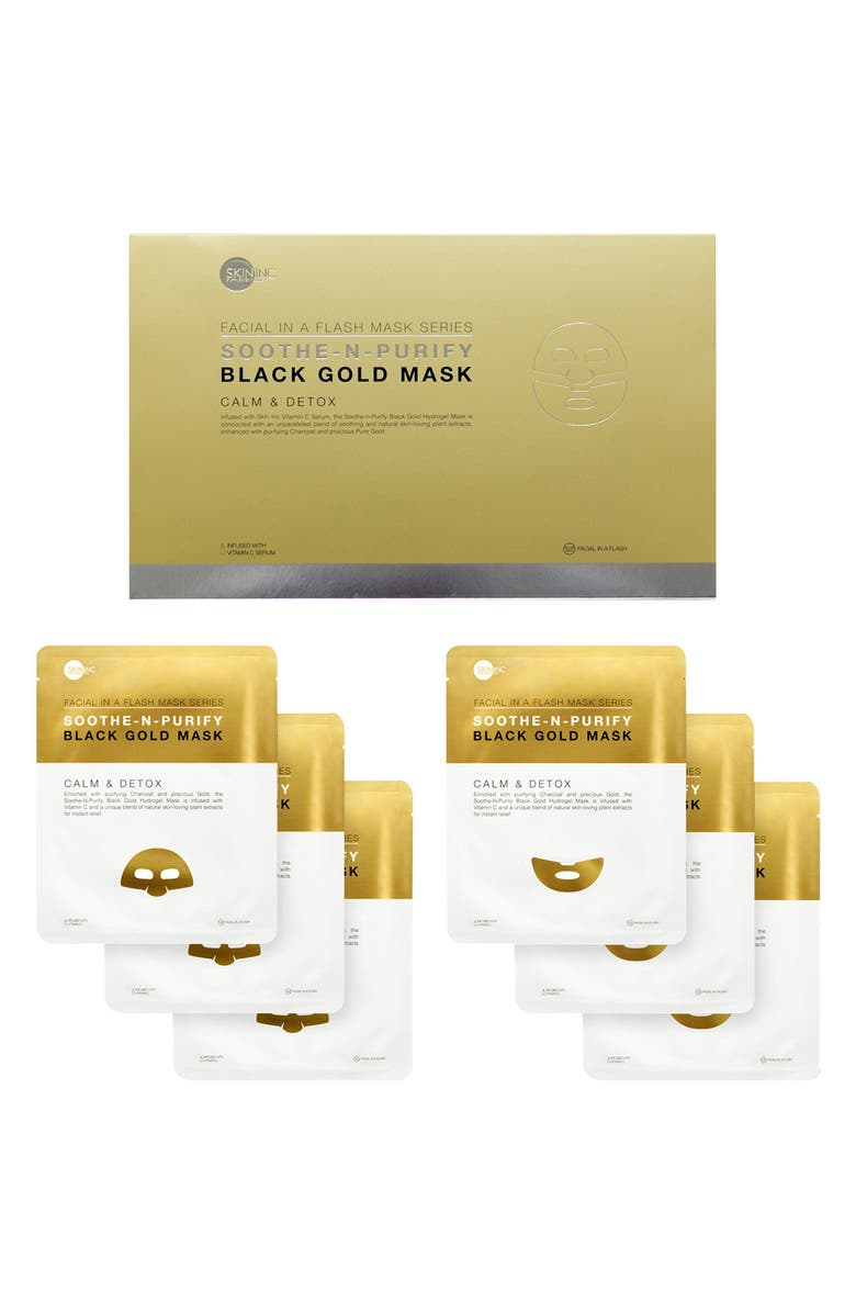 SKIN INC. Soothe-N-Purify Black Gold Mask Set, Main, color, NO COLOR