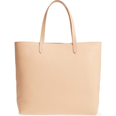 Madewell Zip Top Transport Leather Tote - Beige