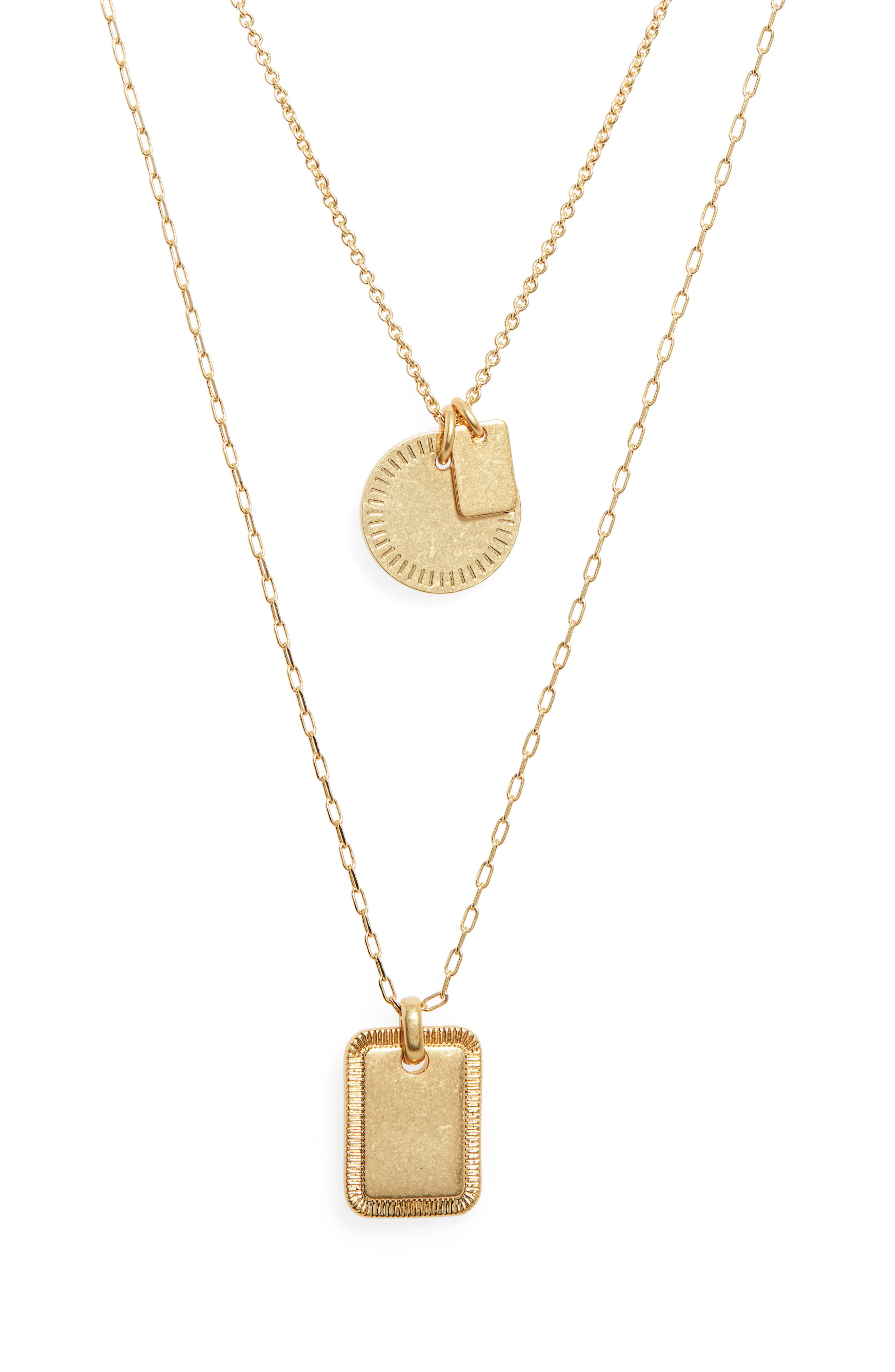 Etched Coin Necklace Set