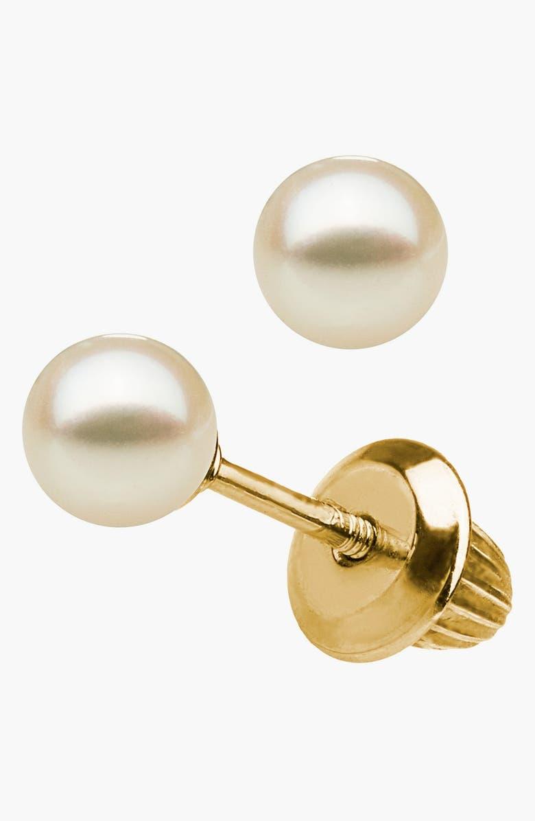 MIGNONETTE 14k Gold & Pearl Earrings, Main, color, GOLD