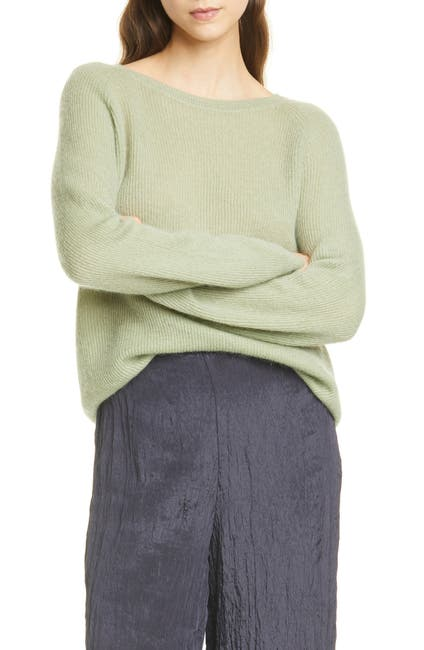 Image of Vince Ribbed Stitch Raglan Top