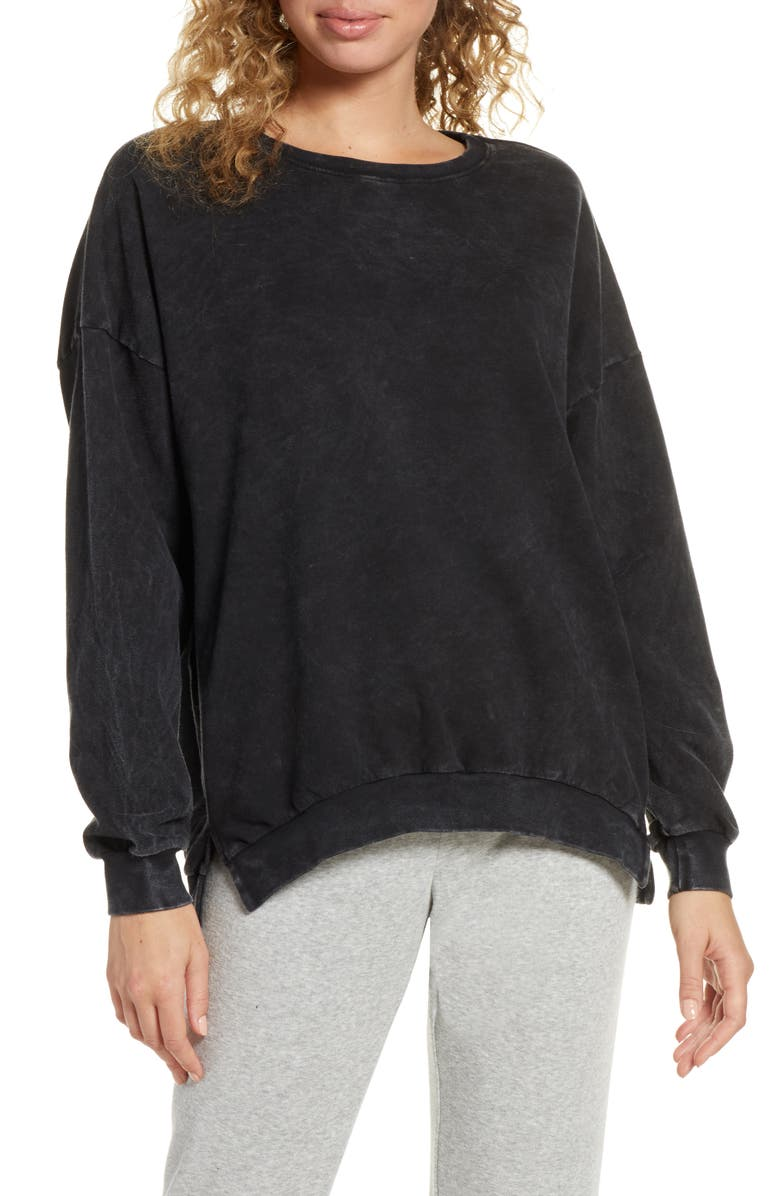 PROJECT SOCIAL T Realized Mineral Wash Sweatshirt, Main, color, MINERAL WASH BLACK