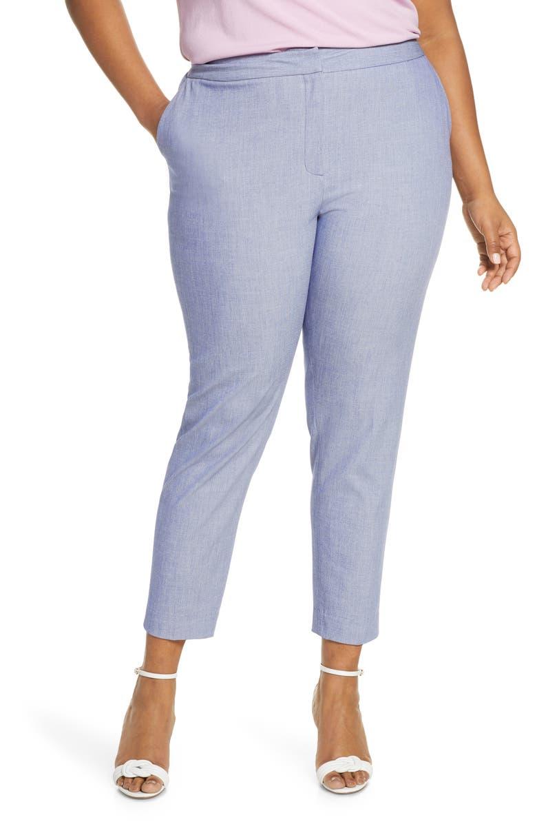 HALOGEN<SUP>®</SUP> Chambray Pants, Main, color, CHAMBRAY