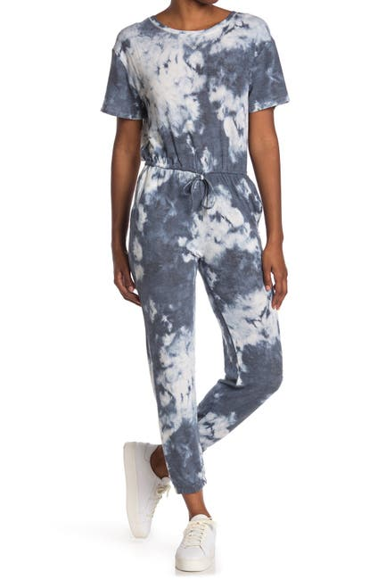 Image of Collective Concepts Tie Dye Knit Jumpsuit
