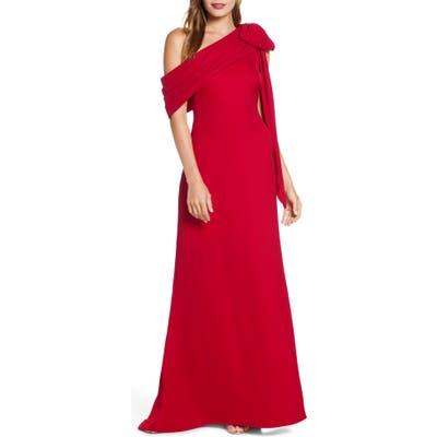 Tadashi Shoji Crepe Gown, Red