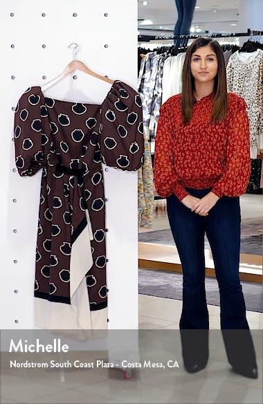 Full Sleeve Silk Crêpe de Chine Midi Dress, sales video thumbnail