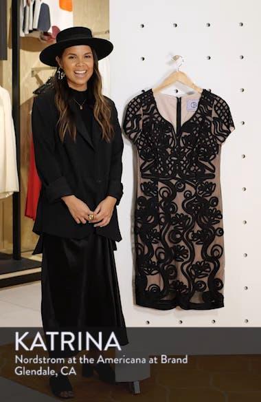 Soutache Mesh Sheath Dress, sales video thumbnail