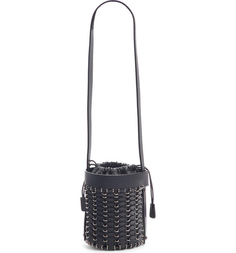 PACO RABANNE Calfskin Bucket Bag, Main, color, 001
