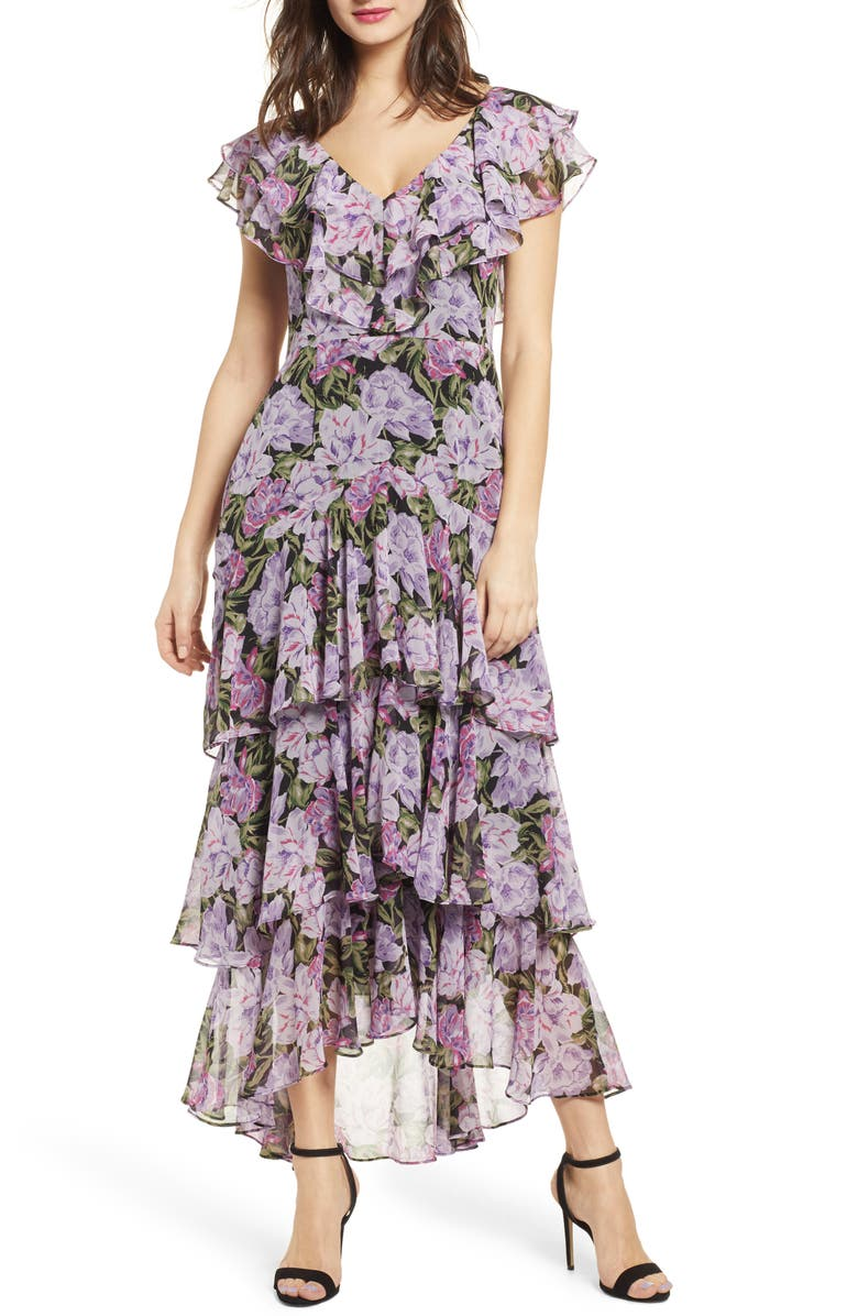 WAYF Chelsea Tiered Ruffle Maxi Dress, Main, color, 505