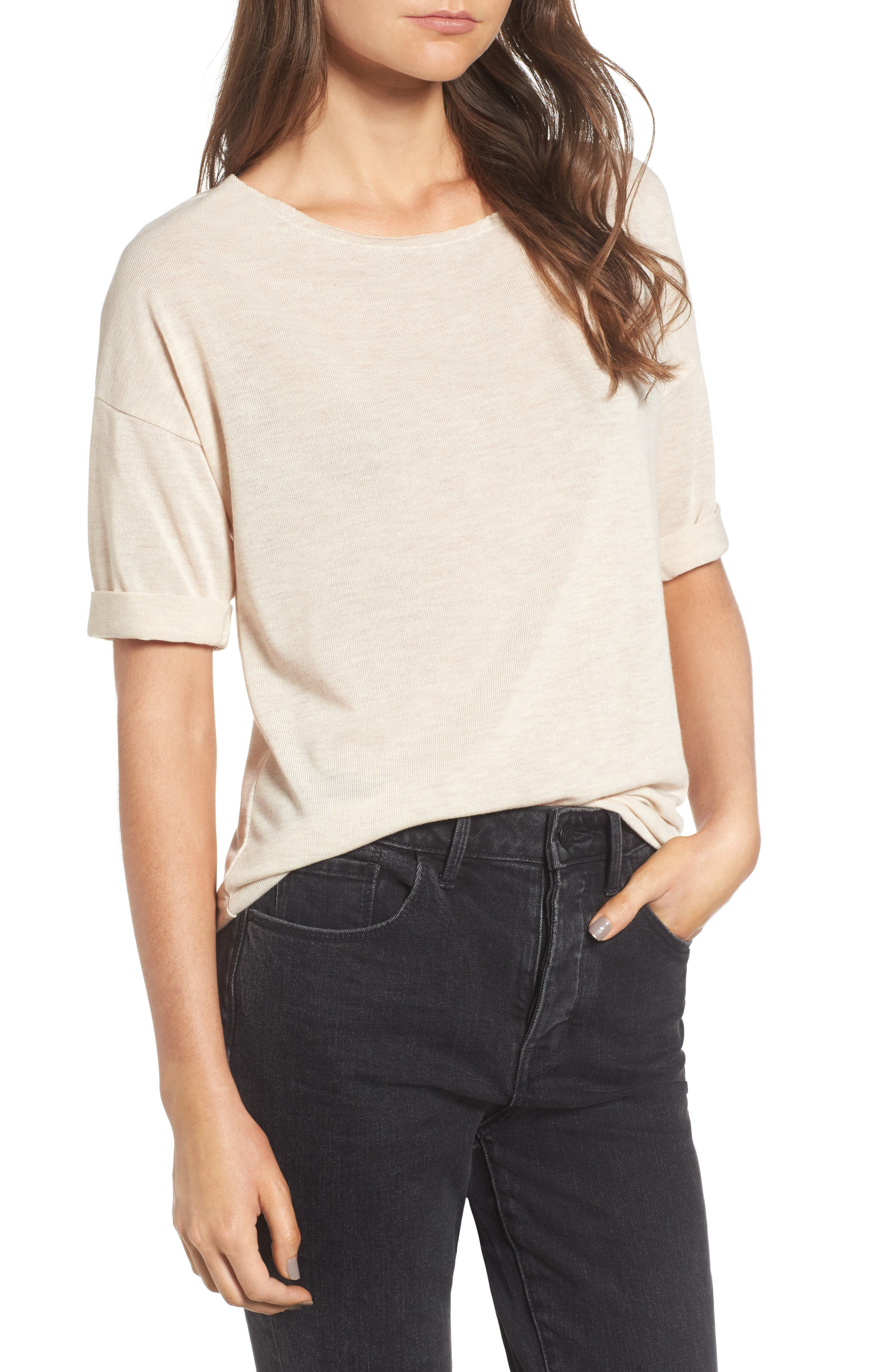 ,                             x Something Navy Easy Tee,                             Main thumbnail 7, color,                             250