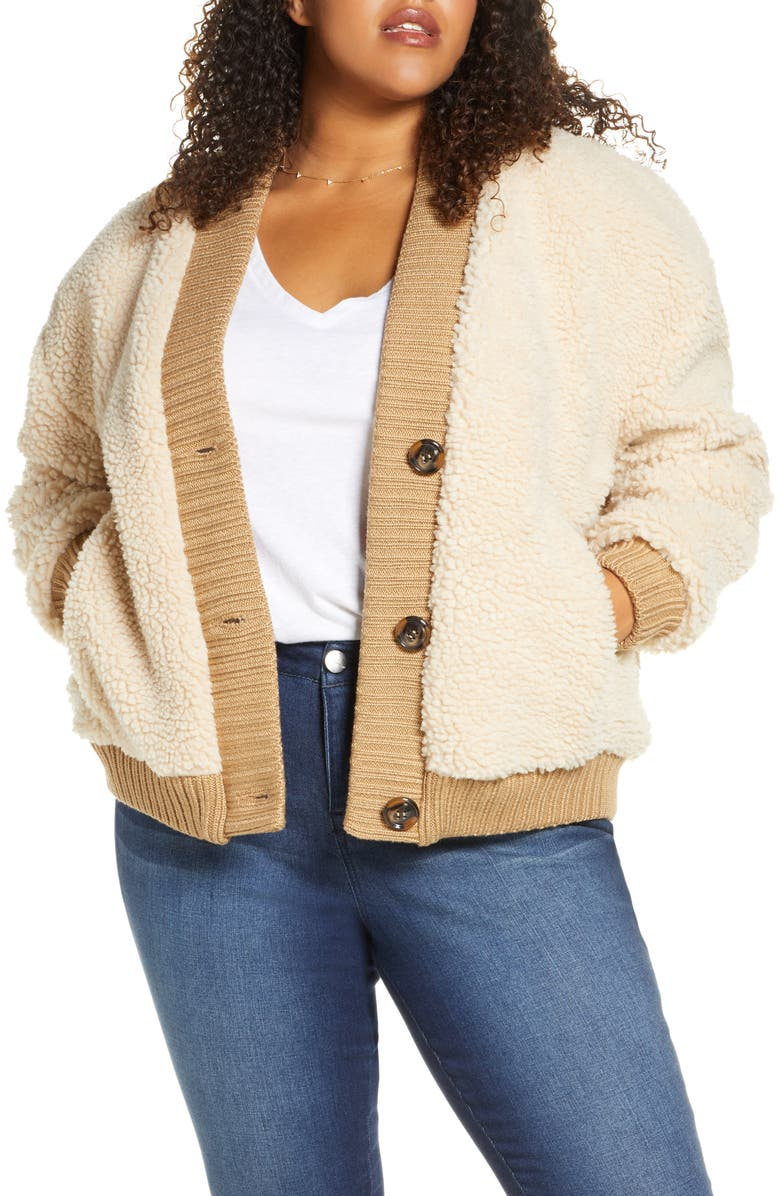 BP. Teddy Cardigan Coat, Main, color, TAN LION