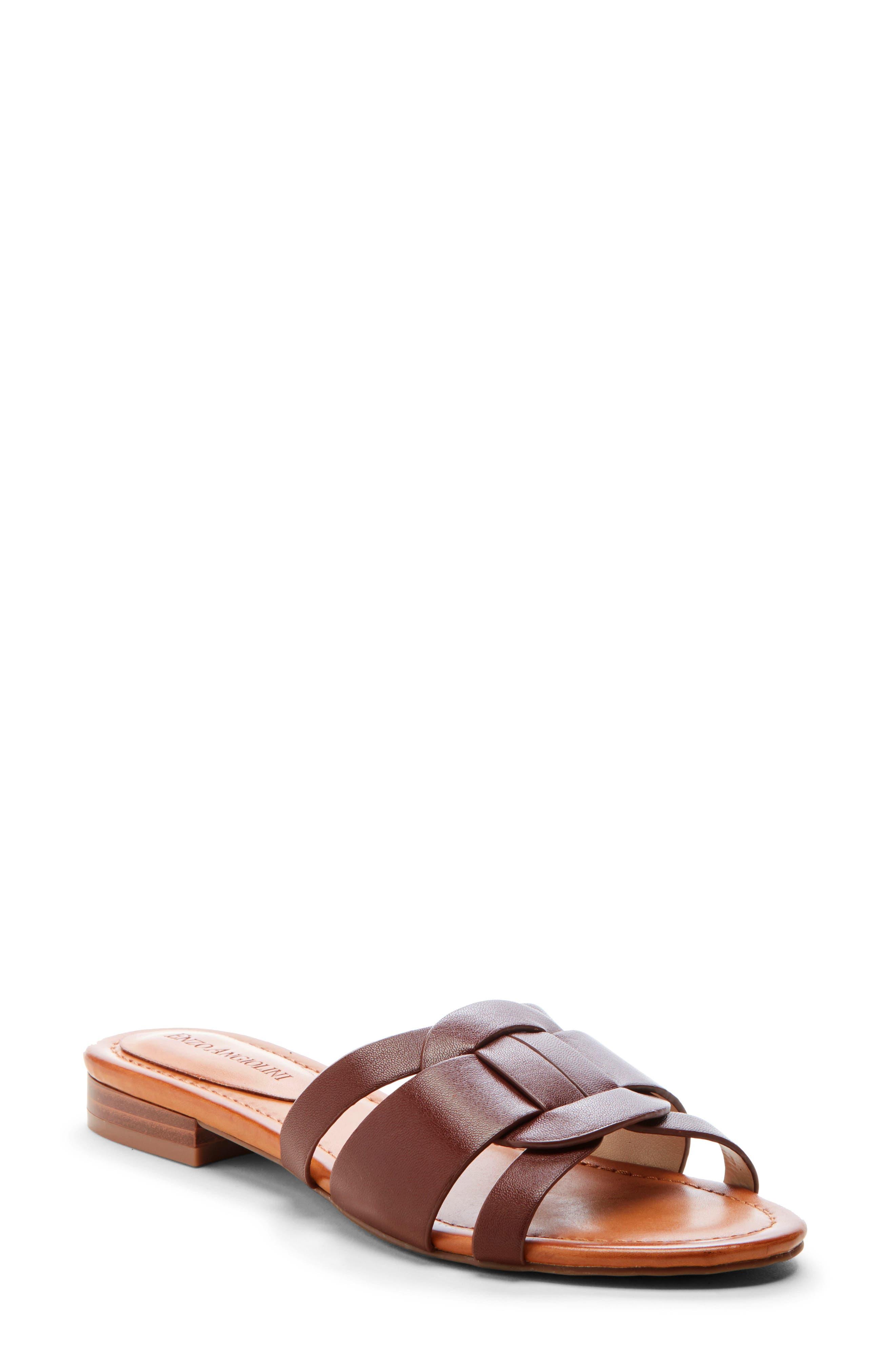 Enzo Angiolini Golda Slide Sandal, Brown