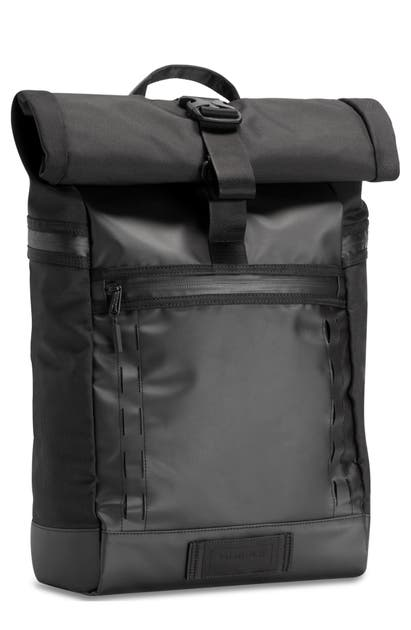 Timbuk2 Tech Roll Top Backpack In Jet Black