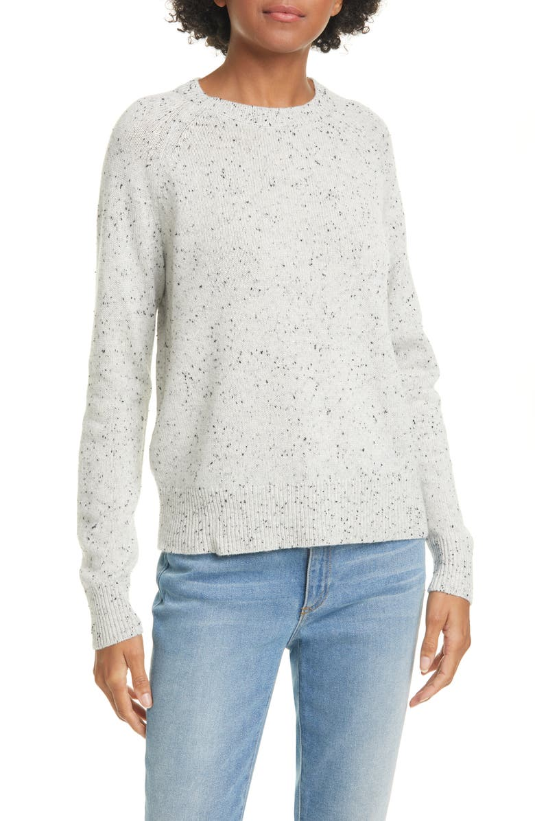 THEORY Donegal Easy Cashmere Crewneck Sweater, Main, color, LIGHT HEATHER MULTI