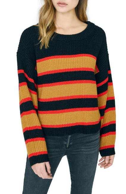 Image of Sanctuary Ezra Stripe Crewneck Sweater