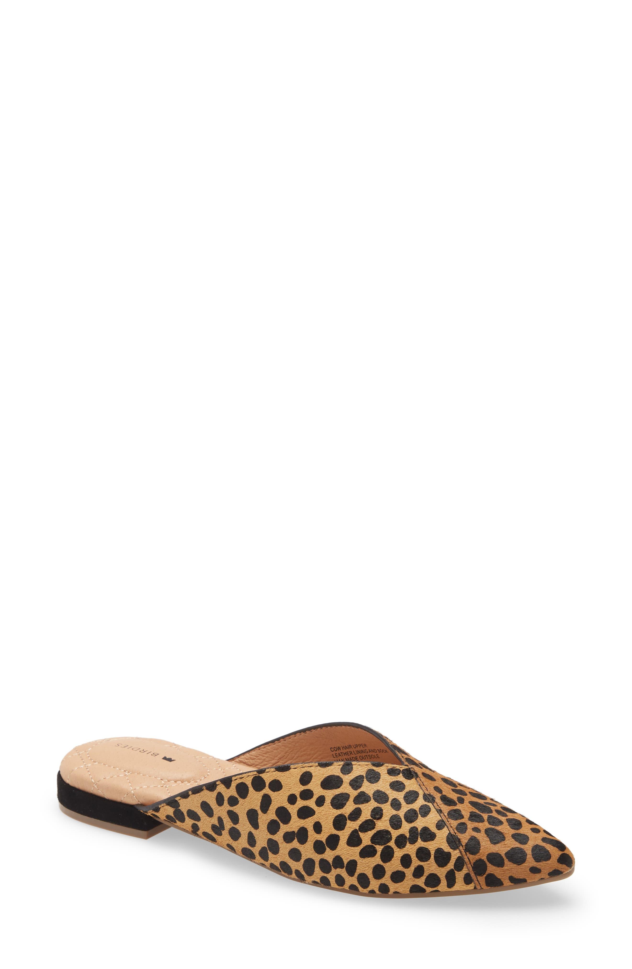 Swan Cheetah Print Calf Hair Mule